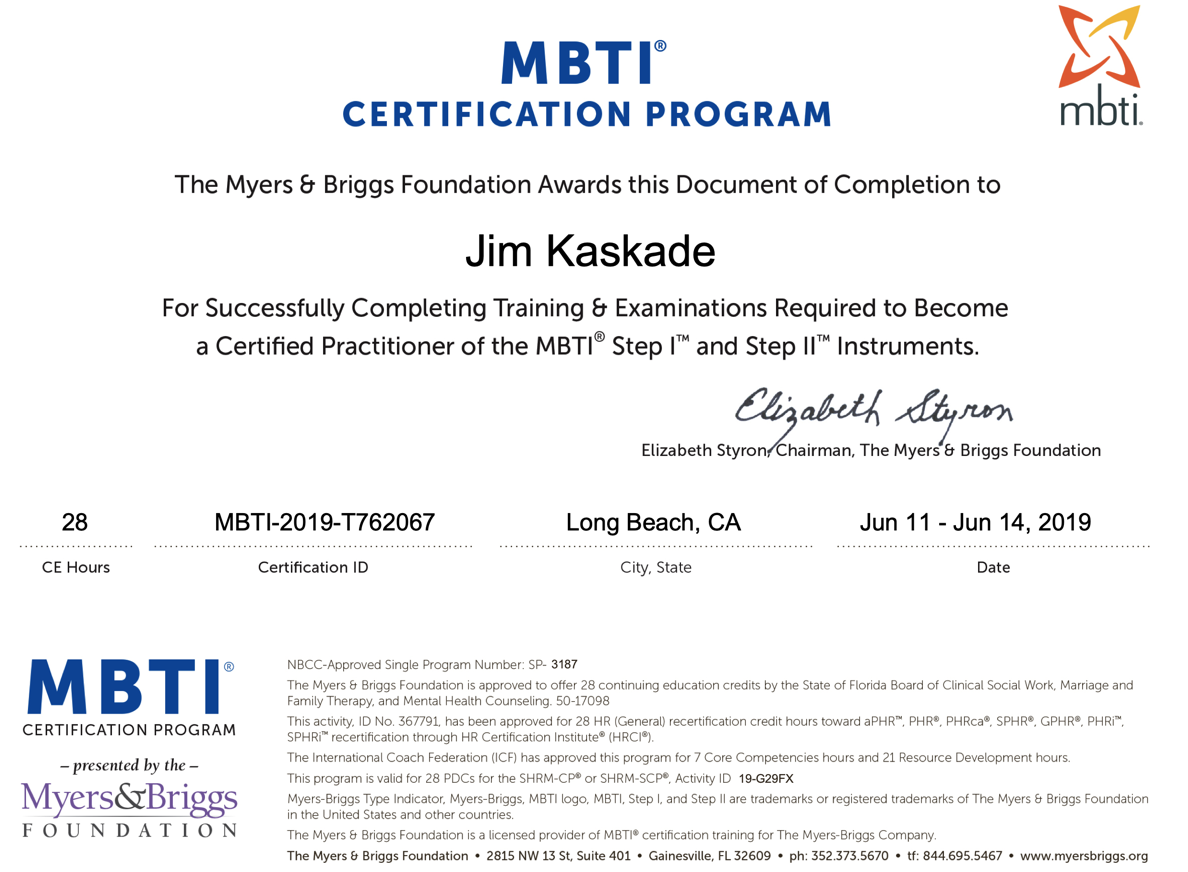I'm an ENTJ – Jim Kaskade